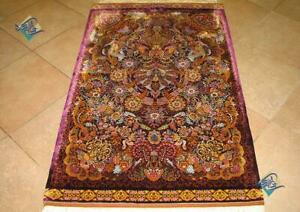 Persian Silk Rug Hand Knotted Handmade