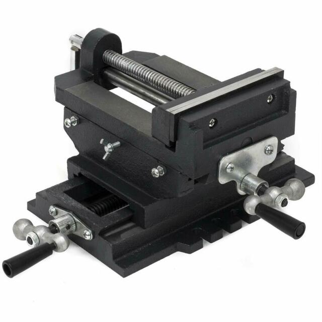 New Heavy Duty Cross Drill Press Clamp Machine Vise Metal Milling Slide 4 inch