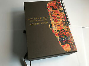 RONNIE-WOOD-How-Can-It-Be-REVIEW-COPY-Deluxe-LEATHER-Genesis-Book-MINT
