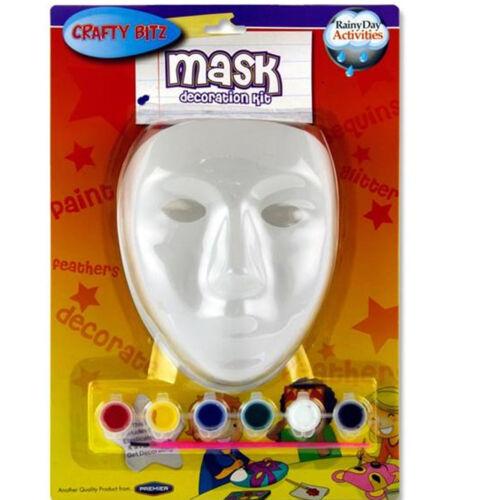 Kids Children Mask Decoration Kit /& Half Face Mask Paint Colour Embellish Mask
