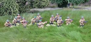 28mm-WW2-Russian-Soviet-SMG-Squad-12-figures-Bolt-Action-Chain-of-Command