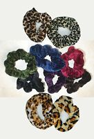 Gorgeous Coloured Velvet Hair Scrunchie - Colour Choice - Band Loop Tie Donut