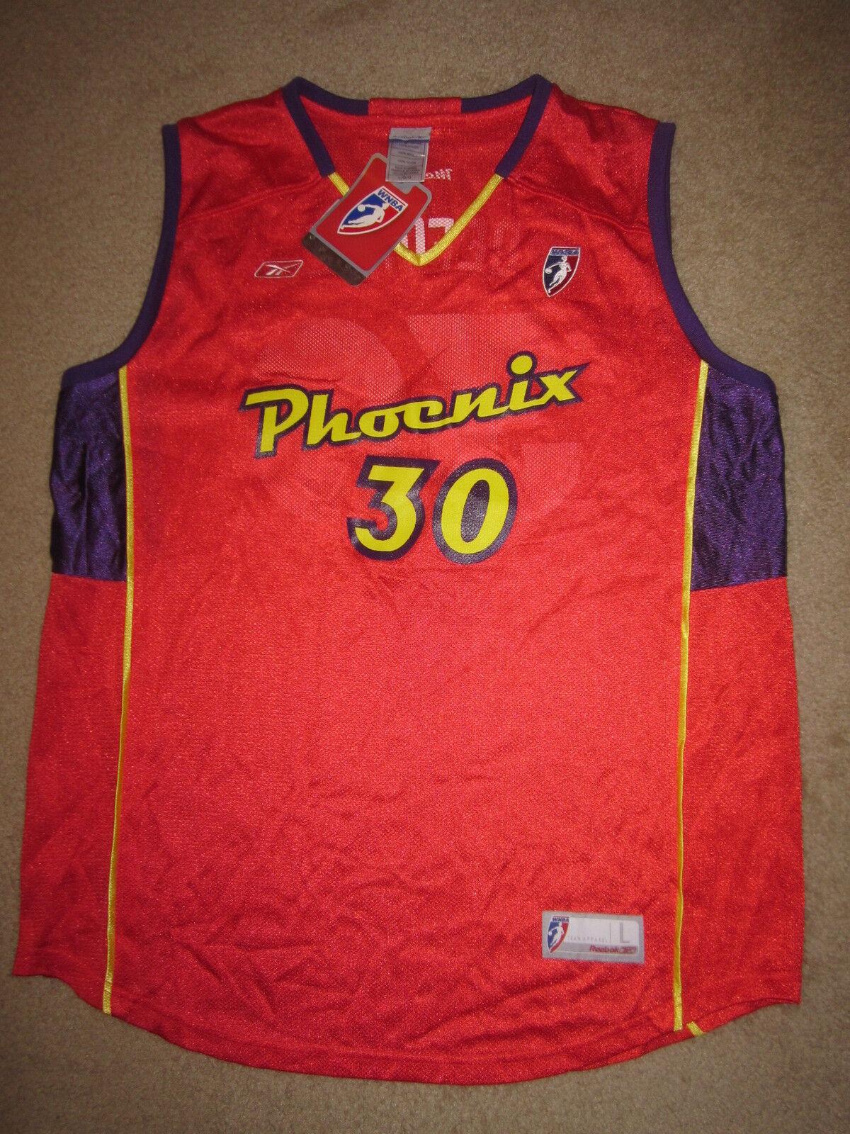 Anna Deforge  30 Phoenix Mercury Mercury Mercury Wnba Reebok Camiseta Lg LARGA Mujer Nuevo Nwt 63b766