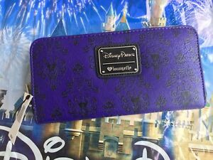 8f7889ffc23 Image is loading NEW-Disney-Parks-Loungefly-Haunted-Mansion -Purple-Wallpaper-