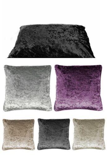 Crushed Velvet grandes Piso Cushion Covers de lujo felpa Llano 60x80CM 80x120CM
