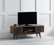 Item 1 Vintage Tv Stand Cabinet Furniture Retro Wooden Sliding Doors 2 Storage Shelves