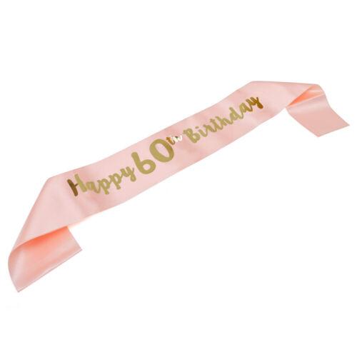 Happy Birthday Sash 16//18//21st//30//50//60th  Birthday Girl Sashes Rose Gold Party