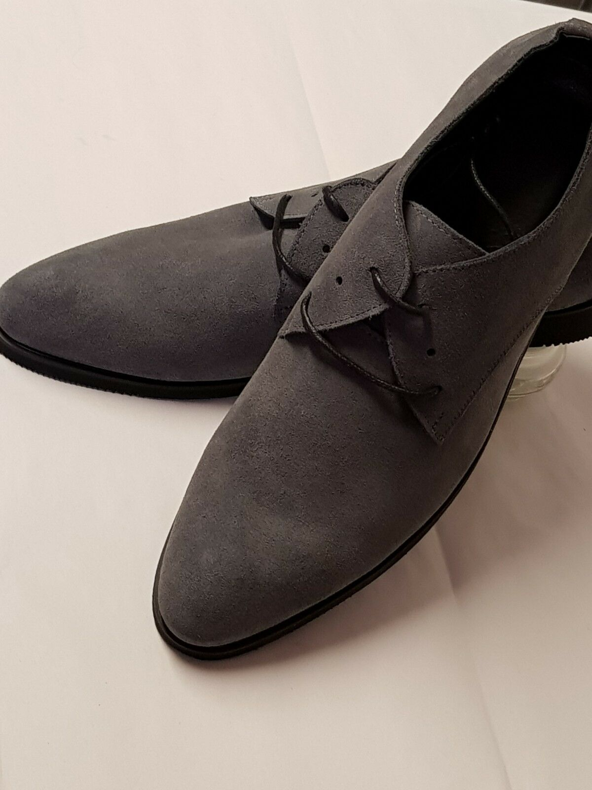 WARBERG MENS GENUINE LEATHER MADE SUEDE GREY CASUAL LOAFER