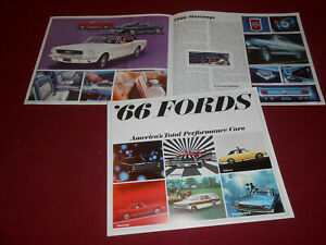 Details about 1966 FORD MUSTANG FAIRLANE T-BIRD FALCON BIG 16-p  BROCHURE /  66 SALES CATALOG