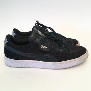 Puma-Basket-Black-Satin-EP-Casual-Shoe-Sneakers-Size-US-8-EUR38-5-UK5-5-RRP-130