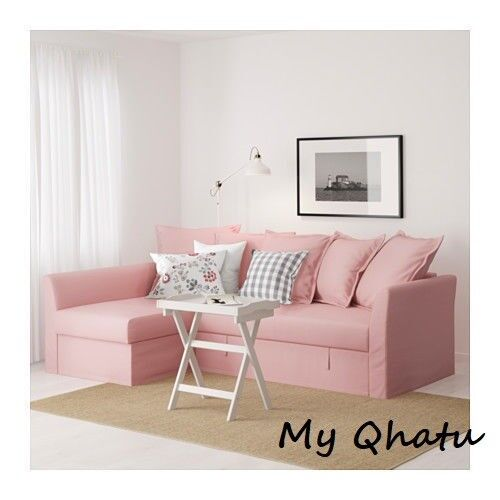 Ikea Holmsund Cover Sleeper Sectional 3 Seat Ransta Pink Slipcovers 003 017 29
