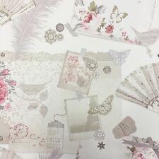 Ava Shabby Chic Wallpaper por Arthouse-Lavanda/Rosa 693003