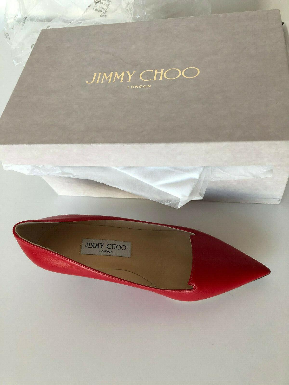 Jimmy Choo Original pumps heels rot rot 36 1 2 2 2 36,5 Leather Leder New Neu b869fe