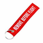 1PC Hot Remove Before Flight Embroidered Canvas Luggage Tag Label Key Chain