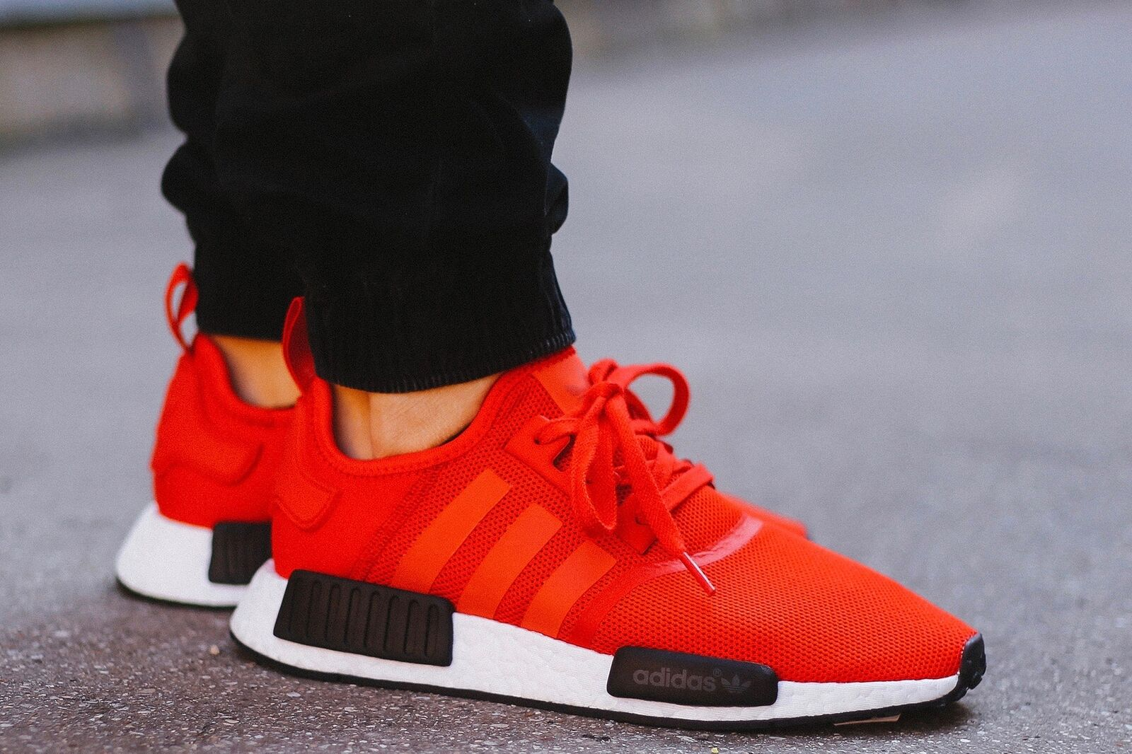 Adidas Originals NMD_R1 Boost Clear Red Black White Bred Running Men's BB1970