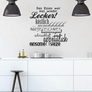 Wandtattoo Spruch Das Essen War Essen Kuche Kochen Wandsticker