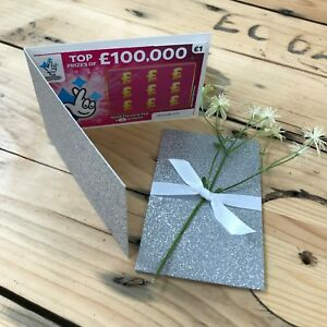Silver-Glitter-Lottery-Wedding-Favour-Lotto-Card-Holder-Scratch-Card-Wallet