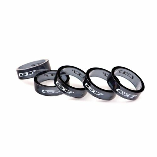 "GT Super Light  Bicycle Headset  Spacer 1-1//8/""x10mm Transparant Black 5 pieces s"
