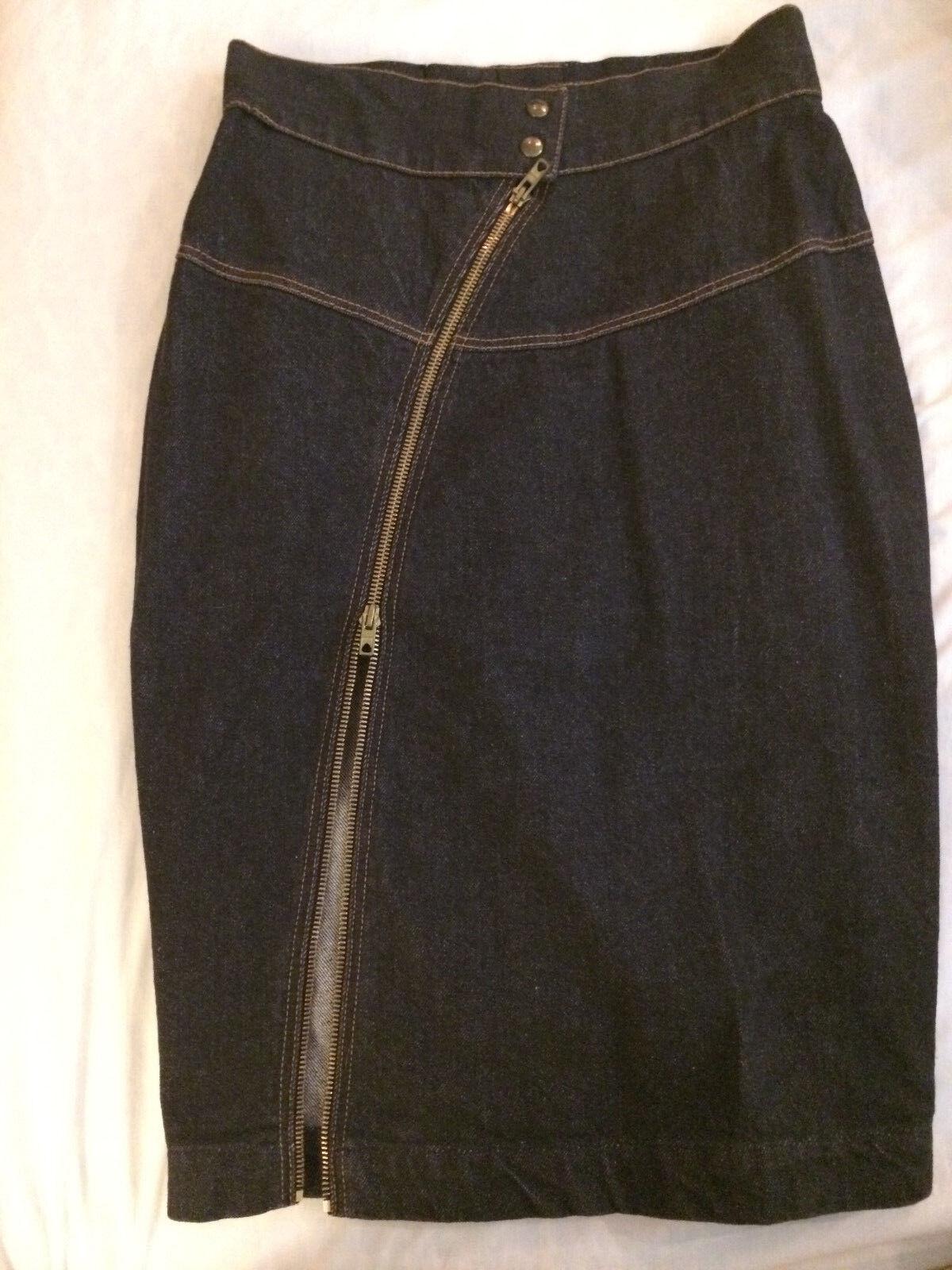 Iconic Azzedine Alaia vintage denim jacket and sk… - image 8