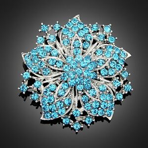 Hot-7Colors-Women-flower-Bouquet-Brooch-Pin-crystal-Rhinestone-Wedding-Party-2-034