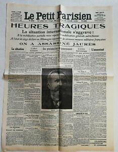 N943-La-Une-Du-Journal-Le-Petit-Parisien-1-aout-1914-heures-tragiques-Jaures