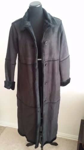 X-Small Centigrade Washable Faux Shearling Button front Coat