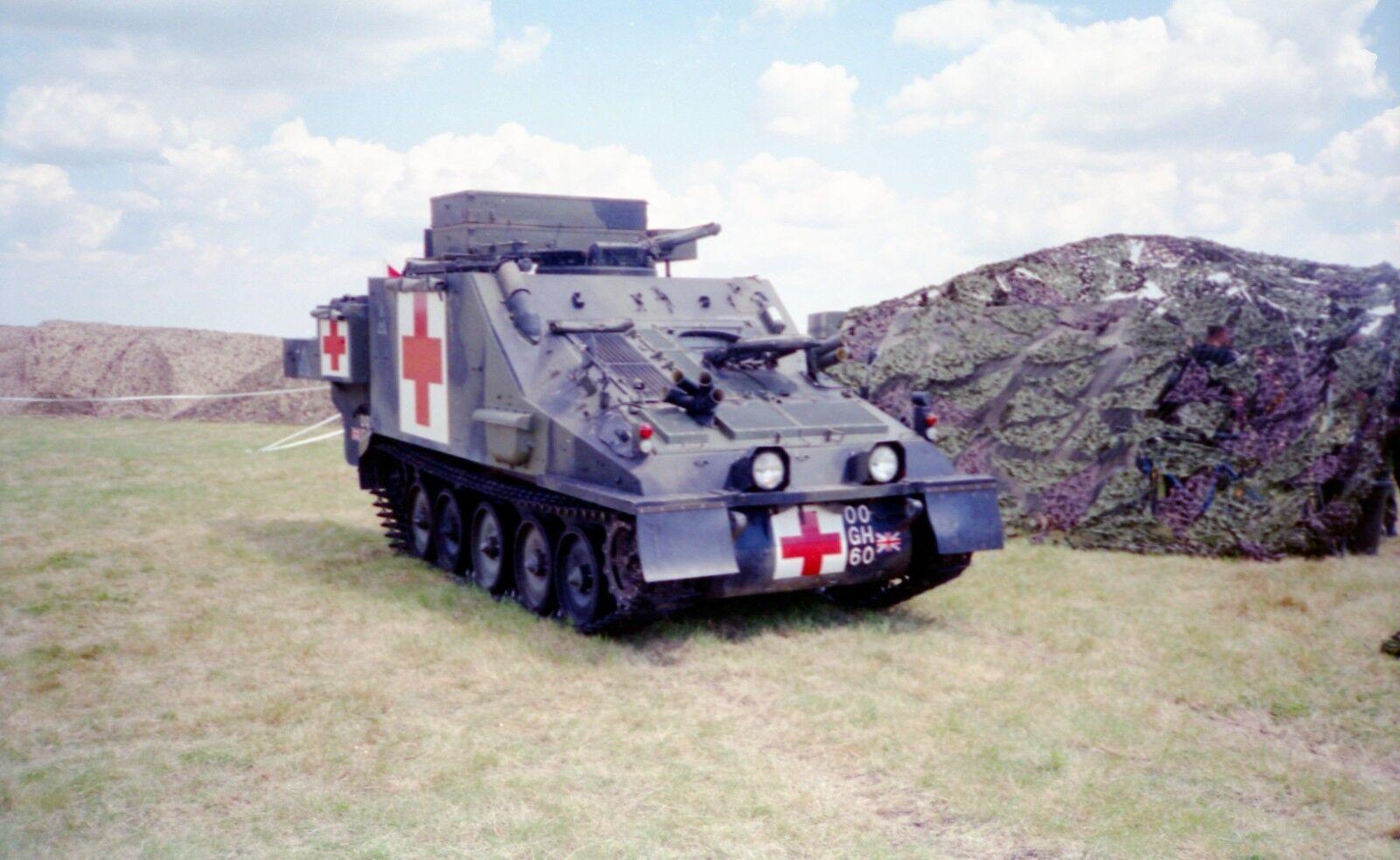 BRITISH ARMY CVRT Samaritan ambulance 1980's   Photo Print