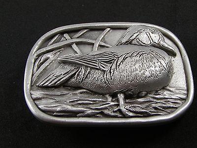 Ente In Grasländer Hartzinn Gürtelschnalle Von Kev Hergestellt In Usa 6514 Alt
