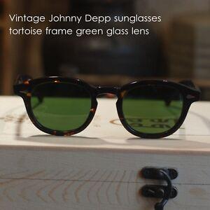 cedcce81596 Image is loading Large-Retro-Vintage-sunglasses-mens-Johnny-Depp-tortoise-