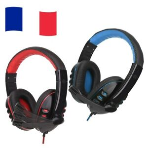 Casque Gaming Gamer PC PS4 Micro Pro Anti Bruit Rouge Stereo Jeux