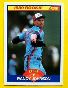1989 RANDY Johnson ROOKIE SCORE CARD #645 Vintage Baseball Montreal EXPOS mlb NM