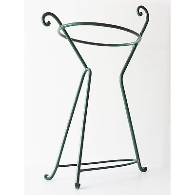 PORTE-PARAPLUIE PORTE-CANNE 1950 METAL LAQUE VERT VINTAGE 50S UMBRELLA-HOLDER