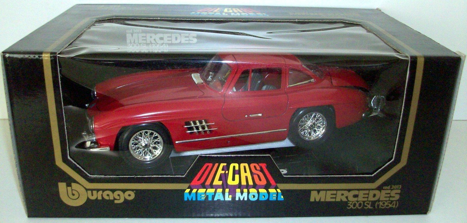 BURAGO 1 18 - COD. 3013 MERCEDES BENZ 300 SL 1954 - RED