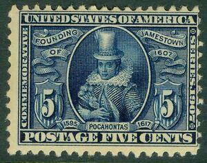 EDW1949SELL: USA 1907 Scott # 330 Postfrisch Never mit Scharnier Katalog