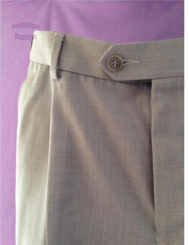 39,50 rrp £ pierre mélange laine coupe régulière pantalon Ex magasin unique devant plissé
