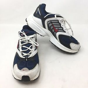pas cher pour réduction 17fa3 9d63f Details about VTG Nike 2003 Dad Shoes Cross Trainer Size 8.5 White Blue  Running Sneakers L3A