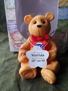 Cute Treasured Pal Matilda the Aussie Bear Ornament Gift Idea Boxed UK Freepost