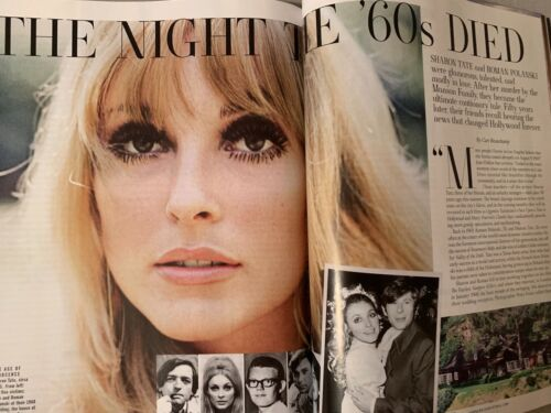 """2019 Town /& Country Magazine Sharon Tate /""""The Night the 60/'s Died/"""""""