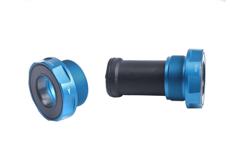 Aerozine Hexágono Road CX Ciclismo Bici Soporte inferior de cerámica para Shimano Azul