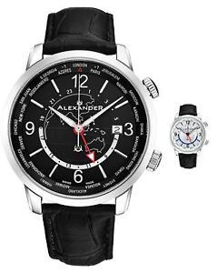 Alexander-Journeyman-Men-039-s-World-timer-Swiss-Made-Watch-Sapphire-Crystal-40-MM