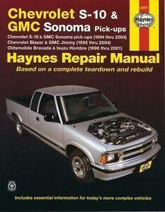 haynes manuals chevrolet s 10 and gmc sonoma pick ups chevrolet rh ebay com 2002 GMC Sonoma Crew Cab 2002 gmc sonoma repair manual pdf