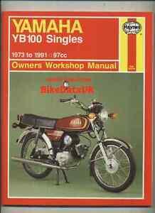 yamaha yb100 1973 1991 haynes service shop manual repair book yb rh ebay com Yamaha Outboard Manual Yamaha V Star 950