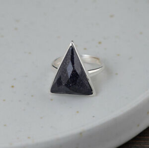 F05-Ring-Turquoise-Gemstones-Triangle-Blue-Facetted-Silver-925-Adjustable-Size