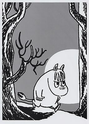 Moomin Picture Poster 24 x 30 cm Tove Jansson Illustrations Snorkmaiden B/W