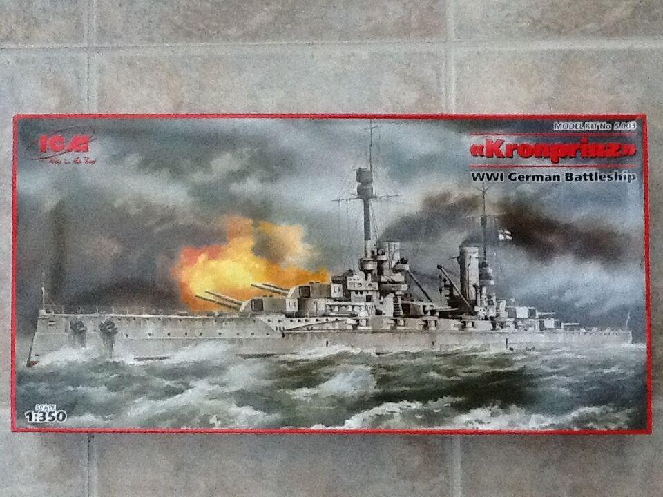 ICM modellllerLER 1  350 WWW I GERMAN slåssSKAP KRONPRINZ modellllerEL KIT ICM -3 BRAND NY