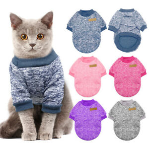 Cat-Christmas-Sweater-Puppy-Dog-Knitted-Fleece-Jumper-Clothes-Pink-Blue-Purple