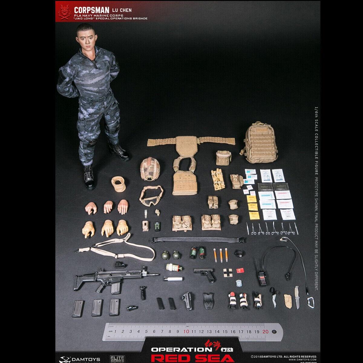 DAMTOYS 1 6 Operation rot Sea PLA Navy Marine Corps Coprsman Lu Chen DMS009 Doll