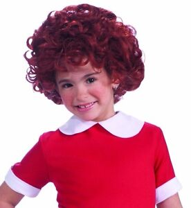 Girls Annie Wig Officially Licensed Costume Hair Red Short Curly