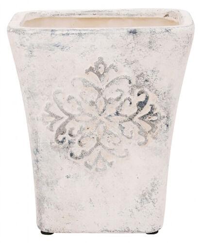 Blumentopf einzeln oder im 2er Set Creme Vase Blumenvase Shabby Landhaus Vintage