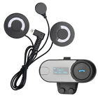 Bluetooth Intercom Headset+FM 800m BT Interphone LCD Motorbike Motorcycle Helmet